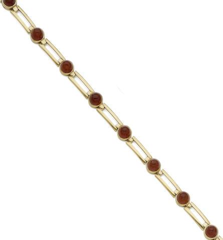 A carnelian bracelet
