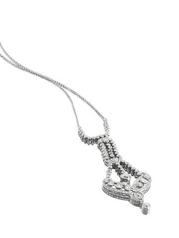 An early 20th century belle epoque diamond pendant necklace