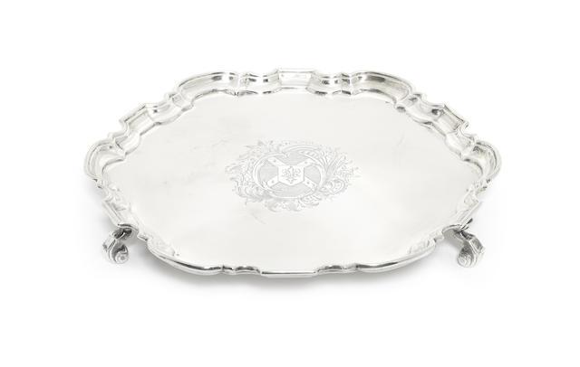 An 18th century silver salver