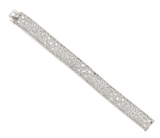 An early 20th century diamond bracelet
