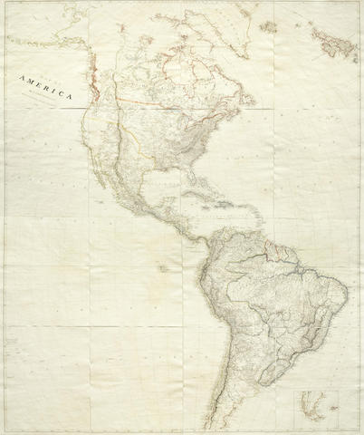 Map of America ... Additions to 1824. [A. Arrowsmith]: 1822 [but 1824].