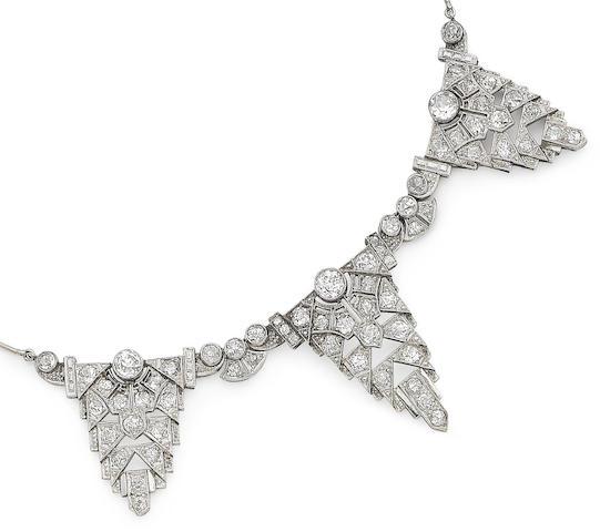 A diamond set necklace