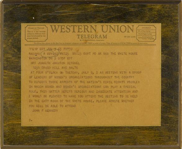 Western Union Telegram, July 3
