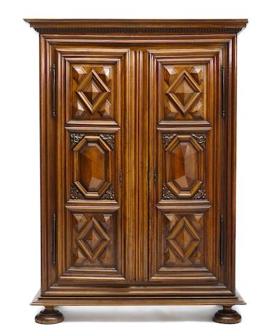 A Louis XIV walnut armoire