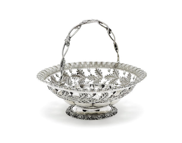 A George IV silver cake basket