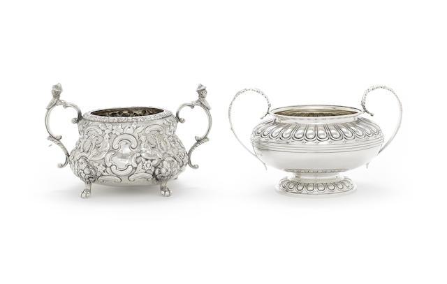 A George IV silver sugar bowl