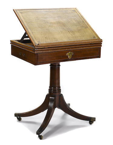 A George III mahogany reading table