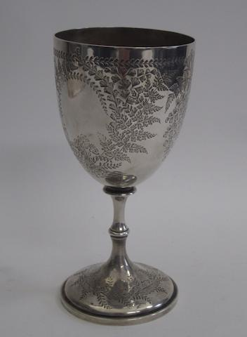 A Victorian silver goblet