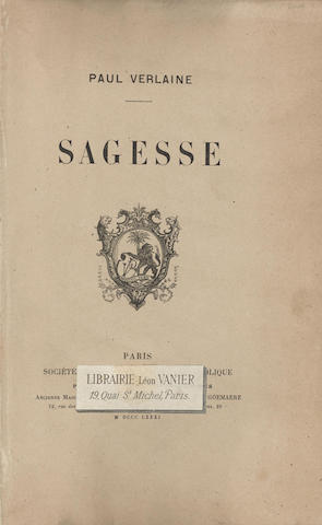 Sagesse. Paris & Brussels: Societe Generale de Librairie Catholique, Victor Palme & Henri Goemaere