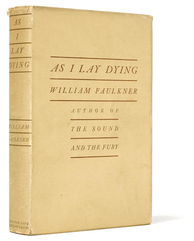 As I Lay Dying. New York: Jonathan Cape: Harrison Smith