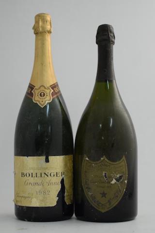 Dom Pérignon 1978 (1 magnum); Bollinger Grande Année 1982 (1 magnum)