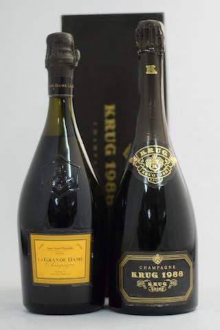 Krug 1988 (1); Veuve Clicquot La Grande Dame 1990 (1)