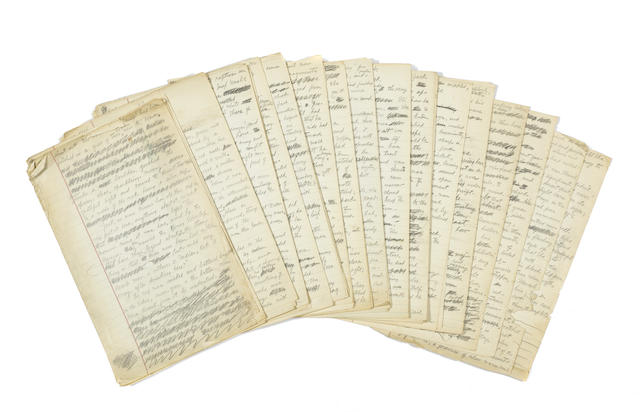 Autograph Manuscript, titled The Heritage of the Desert, pencil on legal paper, 77 pp, n.p., n.d., numbered 68-144,