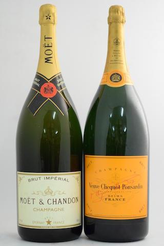 Veuve Clicquot Ponsardin NV (1 methuselah); Moët & Chandon Brut Impérial NV (1 methuselah)