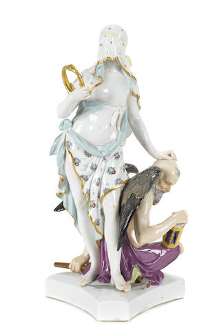 A Berlin (K.P.M.) porcelain figural group emblematic of Eternity and Time: Ewigkeit & Zeit