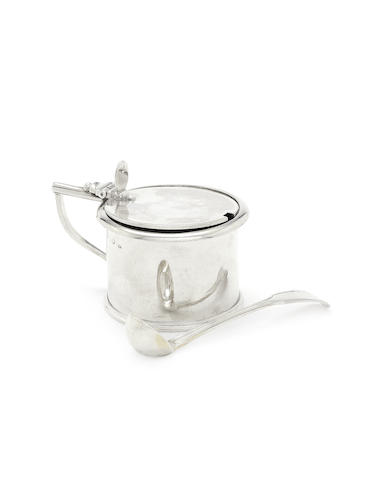 A George III silver mustard drum