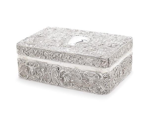 A Victorian silver cigarette box