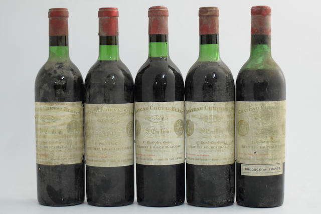 Château Cheval Blanc 1959 (1) Château Cheval Blanc 1966, St Emilion 1er Grand Cru Classé (4)