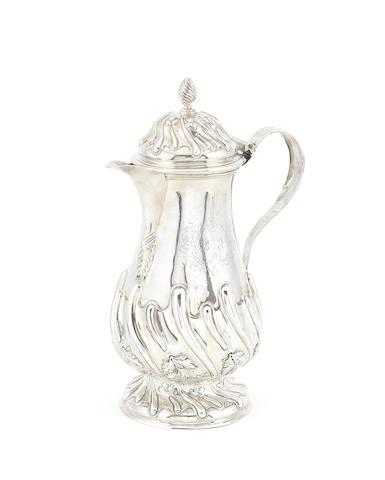 A George III / IV Irish silver coffee pot