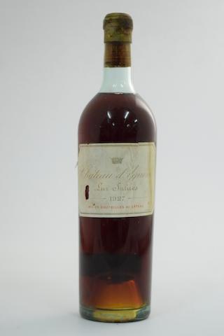 Château d'Yquem 1927, Sauternes 1er Grand Cru Classé (1)