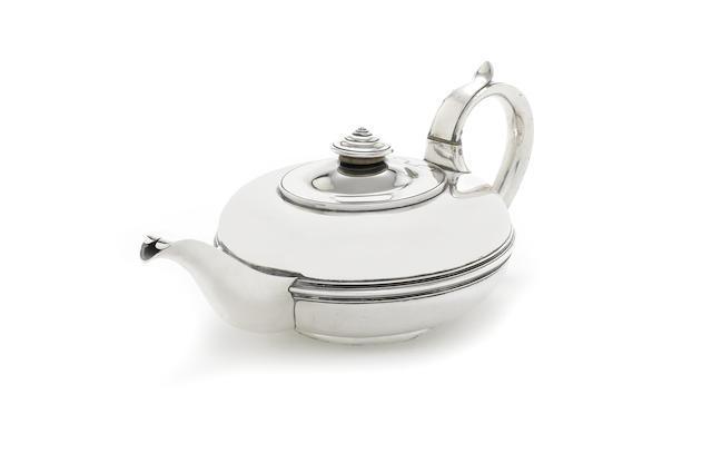 A Victorian provincial silver teapot