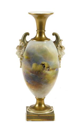 A Royal Worcester porcelain vase