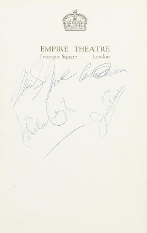 Various Signatures/Marilyn Monroe: Approximately 590 signatures acquired at the Empire Theatre, Leicester Square