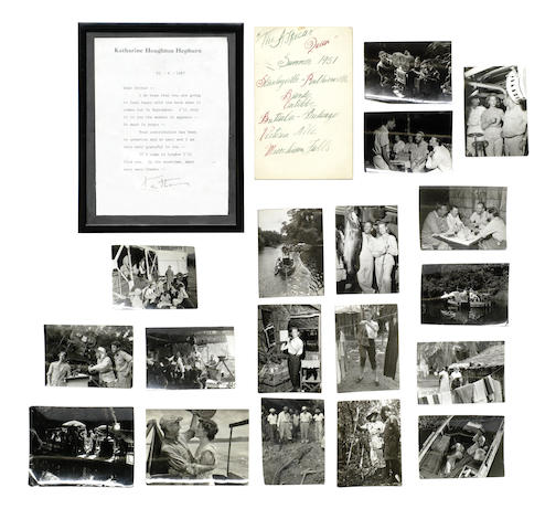 African Queen: a group of stills and items relating to the production