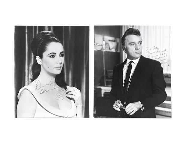 Elizabeth Taylor and Richard Burton: two signed photographs