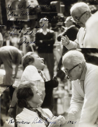 Ingrid Bergman: two signed photographs