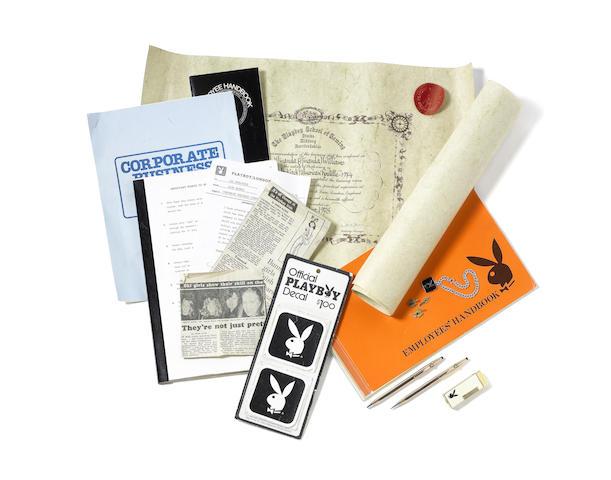 a collection of handbooks and memorabilia