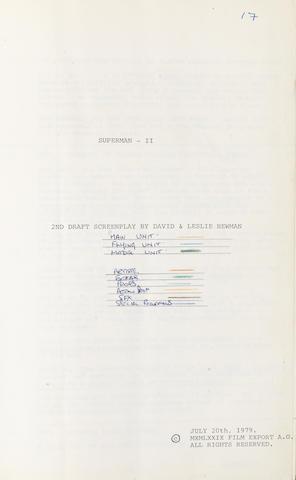 Superman II: a draft screenplay