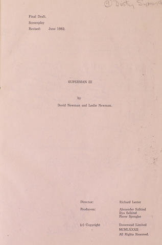 Superman III: a final draft screenplay revised June 1982