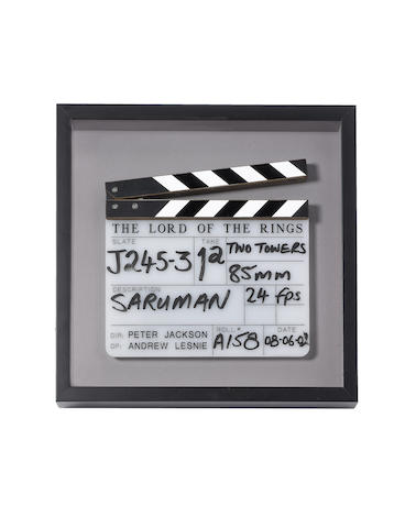 Lord of the Rings: A clapperboard used in The Two Towers
