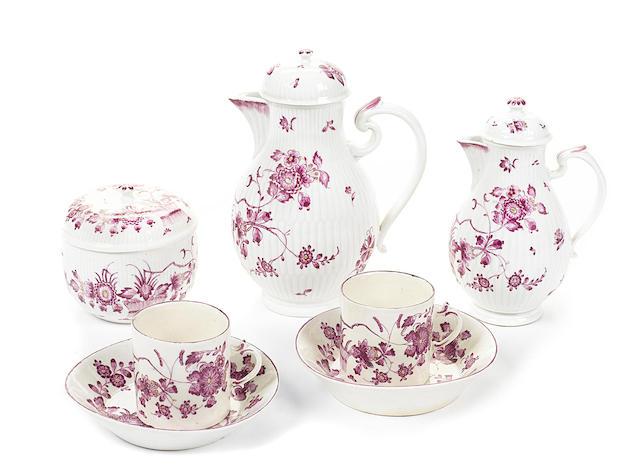 A Ludwigsburg porcelain part tea service