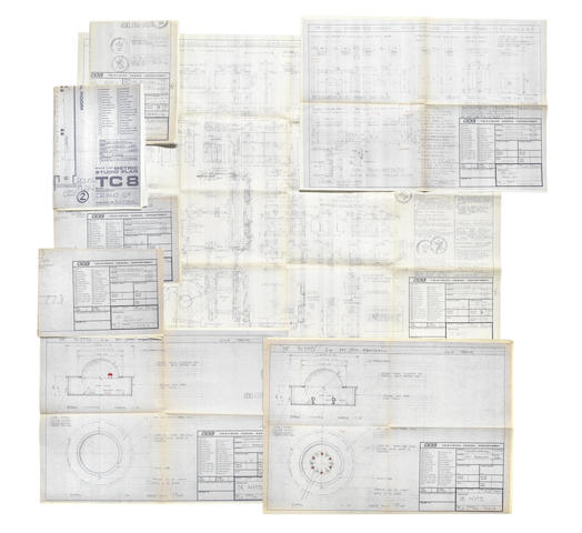 Doctor Who - Resurrection of the Daleks: a group of scripts and copies of construction drawings