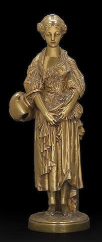 A French gilt bronze figure of a young woman