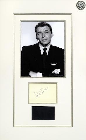Frank Sinatra: An autographed album page