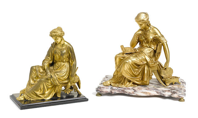 Two French gilt bronze figures