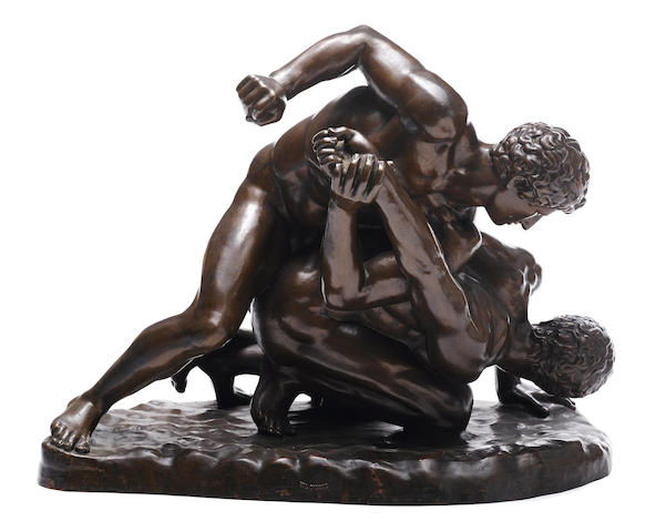 A French cast iron figural group: The Wrestlers