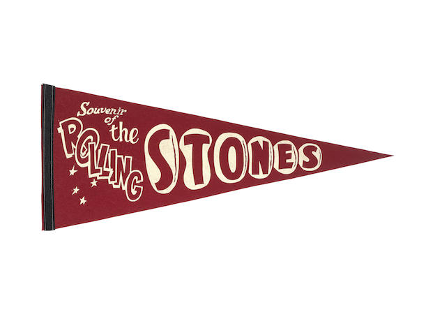 The Rolling Stones: A US 1964 tour pennant
