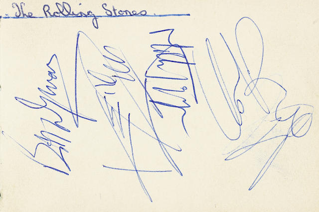 The Rolling Stones: A set of autographs
