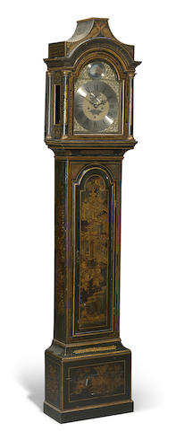 A George III lacquered tall case clock Thomas Watson, Yarmouth