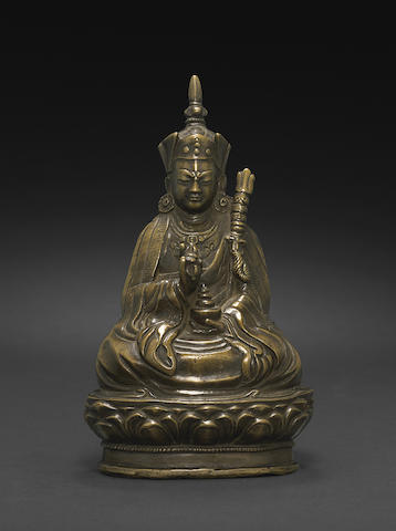 A copper alloy figure of Padmasambhava