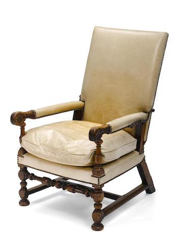 A Louis XIV walnut fauteuil mécanique