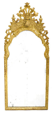 A George I style carved giltwood mirror