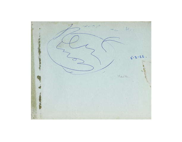 The Who: a set of autographs in an autograph book