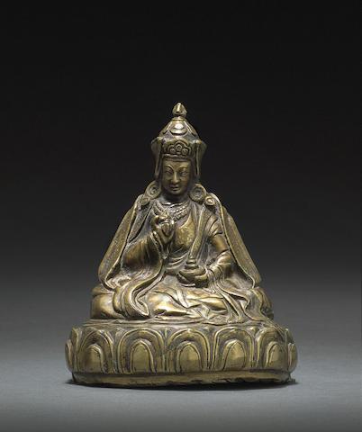 A copper alloy figure of Padmasambhava