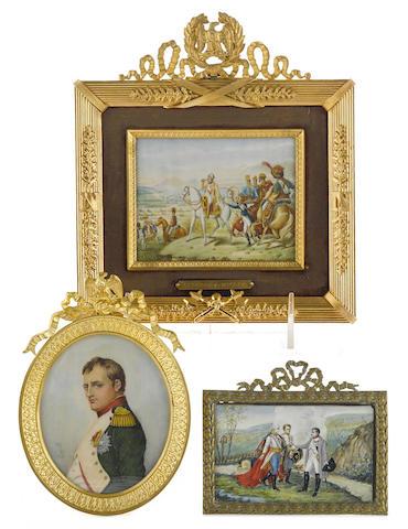 Three portrait miniatures of Napoleon