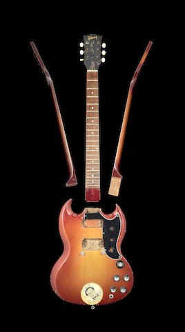 Pete Townshend/The Who: A group of parts from Pete Townshend's smashed Gibson guitars